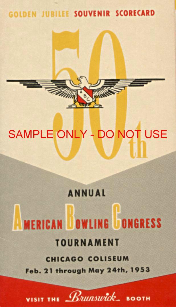 1953 Souvenir Bowling Scorecard