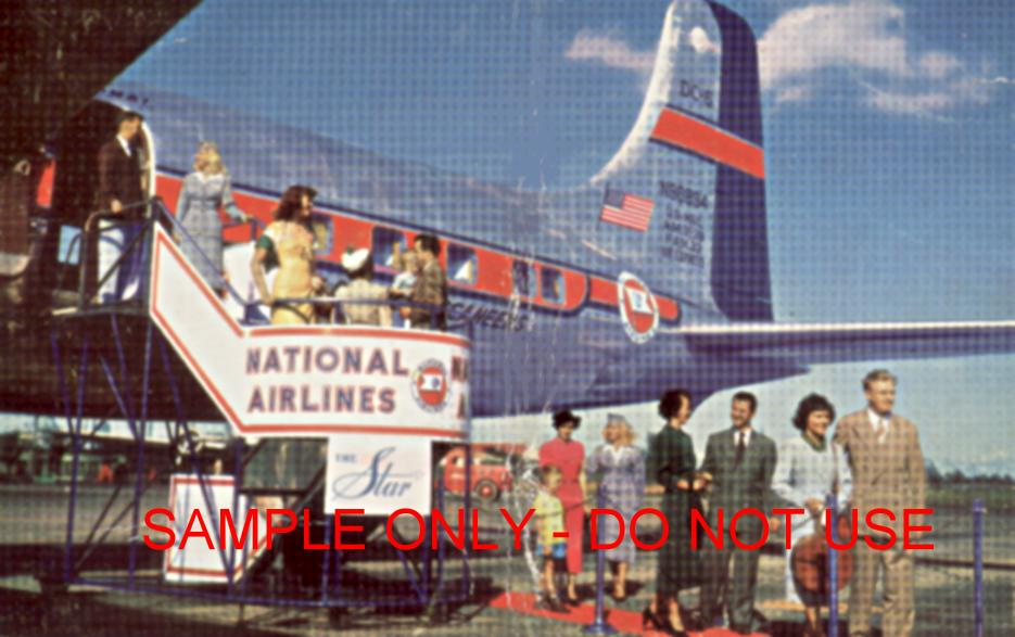 50s national airlines deplaning