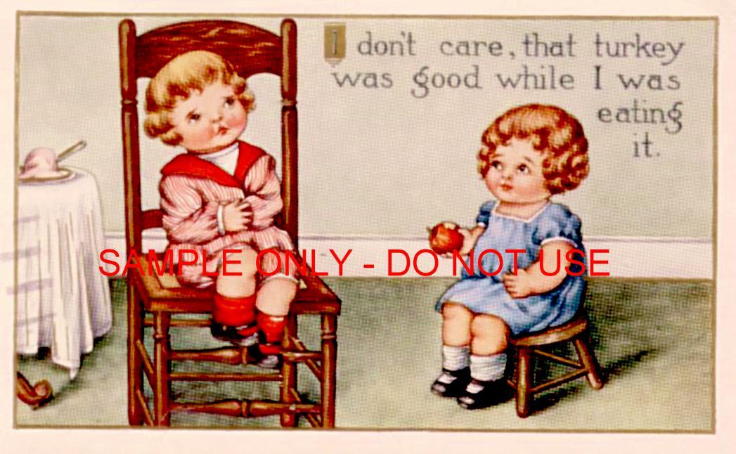 Kids eating Turkey 1910