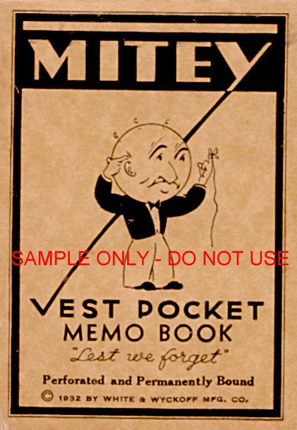1932 Memo Tablet