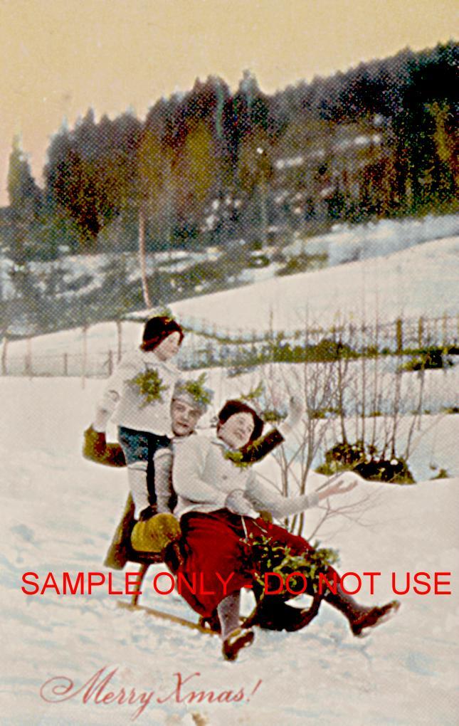 Sledding Family 1910