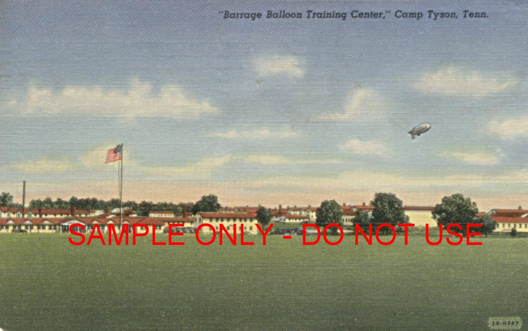 WW2 Balloon over Training Camp
