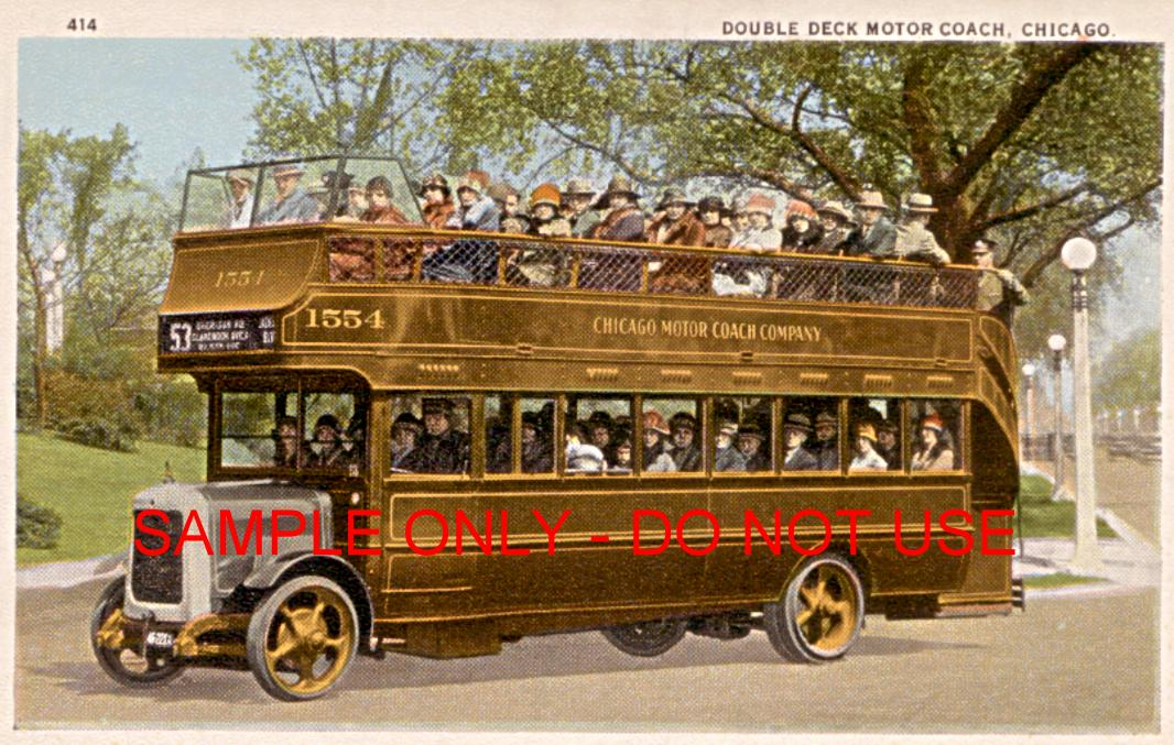 double decker chicago bus 1910