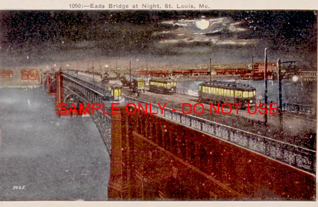 nightime bridge traffic 1910