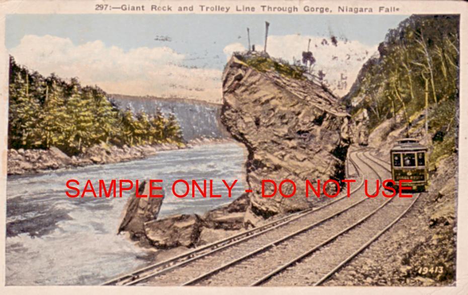 train thru niagara gorge 1910