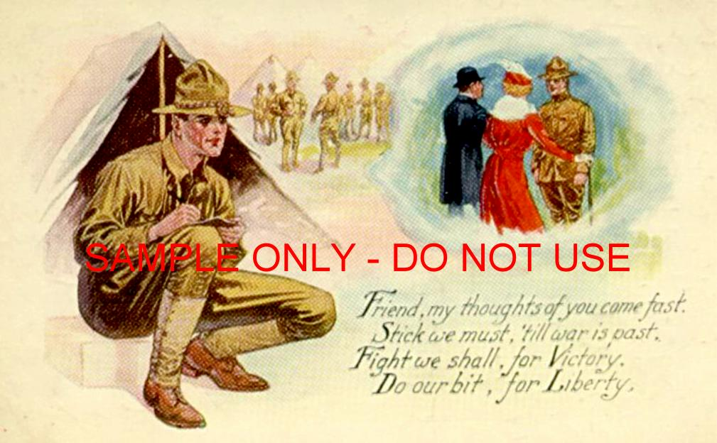 WW1 Lonely Soldier Greeting Card